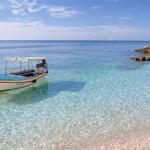 Rovinj clear blue sea