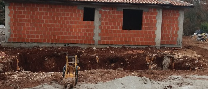Pool being dug out