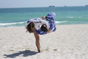 Judo on beach in Porec