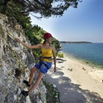 Rock climbing in Porec